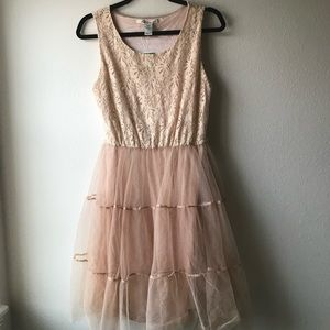 Tulle blush dress